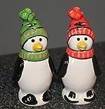Pfaltzgraff Penguin Skate Sculpted Salt And Pepper Set