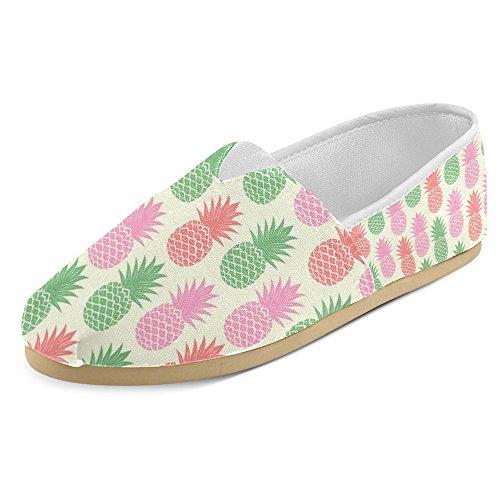 Mocassini Da Donna Di Interestprint Classico Canvas Casual Slip On Fashion Scarpe Sneakers Flats Ananas Fruit Multi 28