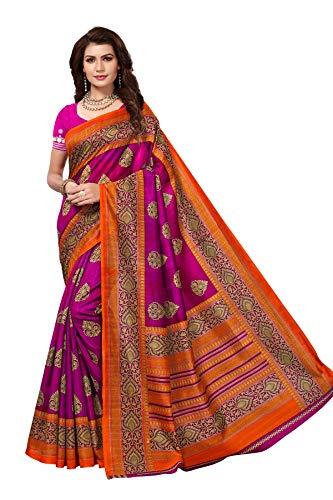 CRAFTSTRIBE Indian Traditional Saree Party Wear Pink Wedding Bollywood Designer Bridal Sari