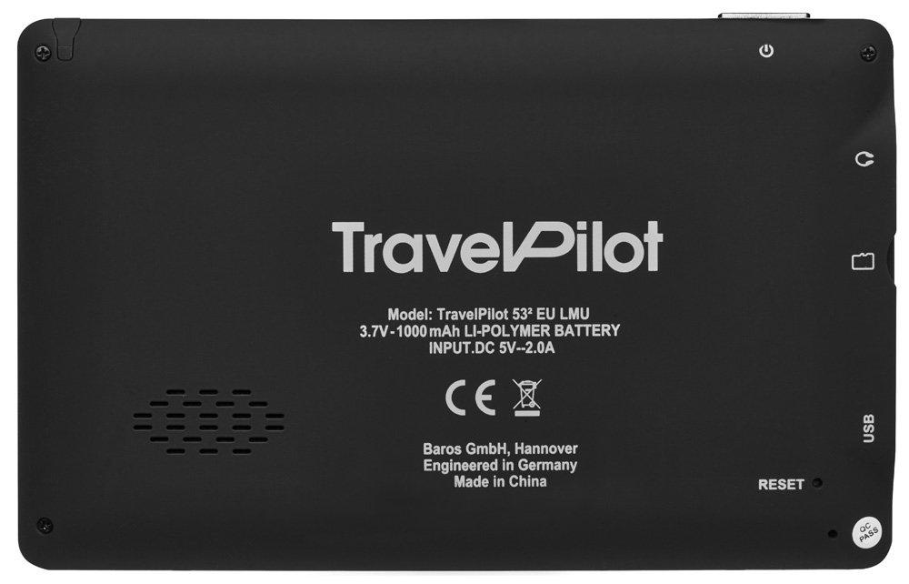 Blaupunkt TravelPilot 53/² EU LMU 5 Zoll lebenslange Karten-Updates* Kartenmaterial Gesamteuropa Navigationssystem mit 12,7 cm Display TMC Stauumfahrung