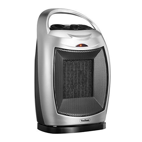 VonHaus 1500W Oscillating PTC Ceramic Electric Fan Heater 1500W Ceramic Electric Fan Garage, Shop And Utility Heaters Heater Oscillating VonHaus