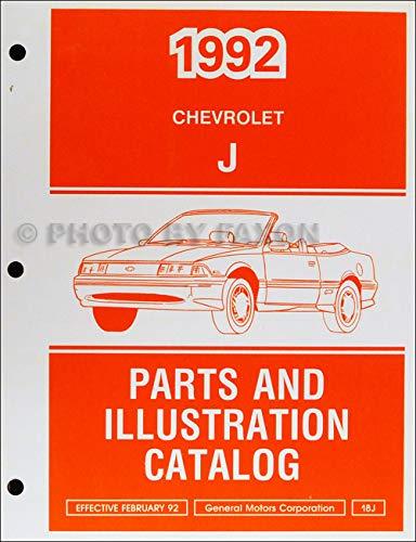 1992 Chevrolet Cavalier Parts Book Original