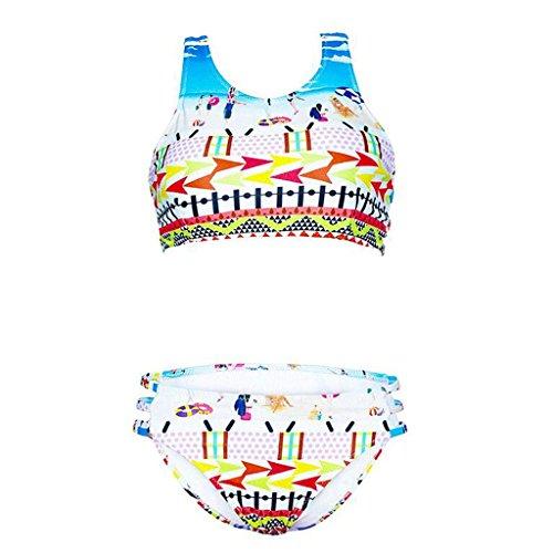 Traje de baño de las señoras Bikini triángulo de dos piezas traje de baño bikini impreso traje de baño Bikini Multi - color