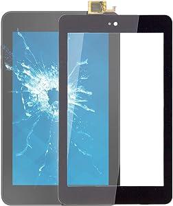 HONGYU Smartphone Spare Parts Touch Panel for Dell Venue 7 3730 Tablet(Black) Repair Parts (Color : Black)
