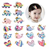 Best Barrettes For Toddlers - inSowni 18pcs Alligator Hair Clips Barrettes Pigtail Hairbow Review