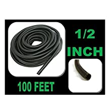 "100 FT 1/2"" INCH Split Loom Tubing Wire Conduit Hose Cover Auto Home Marine Black"