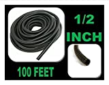100 FT 1/2'' INCH Split Loom Tubing Wire Conduit Hose Cover Auto Home Marine Black