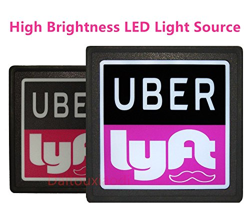UBER LYFT SIGN ACCESSORIES LOGO GLOW LED LIGHT SIGN With Lithium Ion Battery USB Charge UBER LYFT GLOW SIGN Light Up Decal Sticker