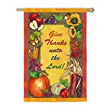 Cheap Give Thanks Unto the Lord House Flag
