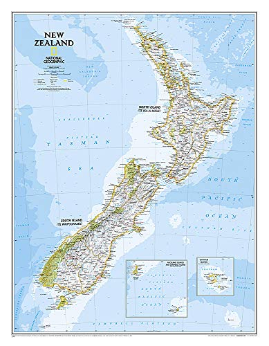 National Geographic: New Zealand Classic Wall Map (23.5 x 30.25 inches) (National Geographic...