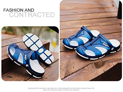 Trend Freizeit Männer Schuh Loch Strand Sandalen Persönlichkeit Rutschfest Absturz Dualer Gebrauch Waten ,blau,US=9,UK=8.5,EU=42 2/3,CN=44