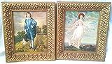 pinkie and blue boy - Vintage Gold FRAMED BLUE BOY & PINKIE prints, Gold Wood Frames 13-1/2