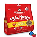 Stella & Chewy's Freeze Dried Dog Food,Snacks Super Meal Mixers 18-ounce Bag With Hot Spot Pets Food Bowl – Made in USA (Chicken)