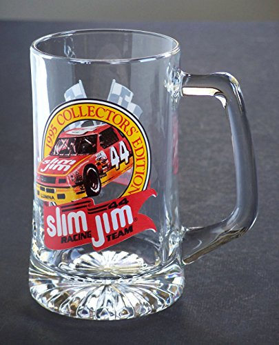 Sports Collectors Glass Ornament - Nascar Mug - Labonte/Green 1995 Nascar #44 Slim Jim Racing Collectors Edition Glass Mug Stein