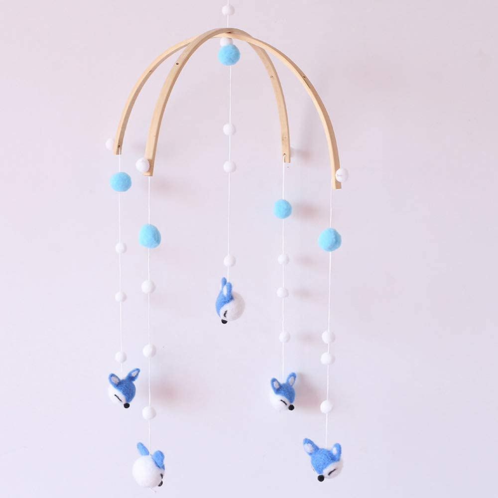 Crib Mobile for Boys and Girls Horse SYLOTS Baby Crib Mobile Fox Gifts for Newborn Fish Hanging Toys Baby Crib Room Decorations Baby for Crib Felt ice Cream