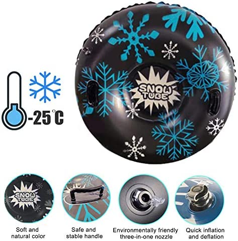 weemoment Yunhigh Snow Tube for Winter Fun, Inflatable 47 Inch Heavy Duty Snow Sleds for Youngsters and Adults, Sturdy Sledding Tubes, Easy to Grip Handles, Bearing Up to 500 Pounds Current