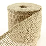 Shinoda Design Center 2.5''x10yd Natural Loose Weave Burlap Ribbon 2pc Set