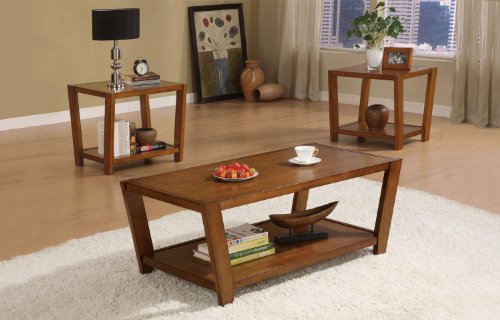 Coaster Home Furnishings Casual Living Room 3 Piece Set, Warm Brown ()