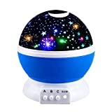 Ouwen Night Light for Kids Babys, Star Rotating Night Light for Kids Toys for 2-10 Year Old Boys Girls 2-10 Year Old Girls Gifts 2-10 Year Old Boys Gifts Blue OWUKNL001
