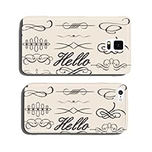 vector set of calligraphic design elements cell phone cover case iPhone5