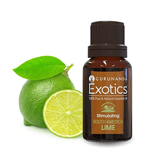 Sauce Lime Orange (GuruNanda Lime Exotic Essential Oil - 100% Pure & Natural Therapeutic Grade Aromatherapy Oils for Diffuser)