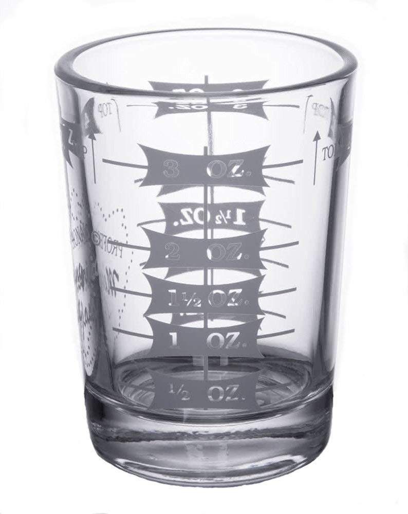 Professional Measuring Glass, Two - 4 oz Measuring Glasses with Two Free Flow Pourers (2)