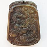 Beautiful Carved Chinese Old Jade dragon Pendant Bead