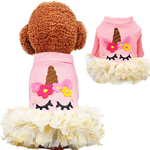 Besmall Halloween Pet Dress, Cosplay Unicorn Dog Costume Coat,Pet Clothes Hoodie for Dogs and Cats