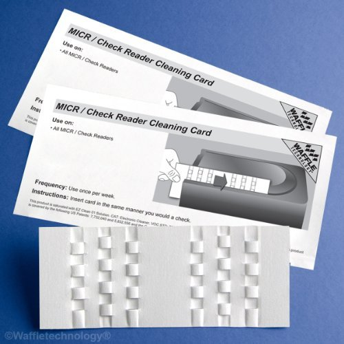 Kic Team-Waffletechnology MICR / Check Reader Cleaning Card, 15/Box by Kic Team by Kic Team