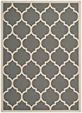 "Safavieh Courtyard Collection CY6914-246 Anthracite and Beige Indoor/ Outdoor Area Rug (4' x 5'7"")"