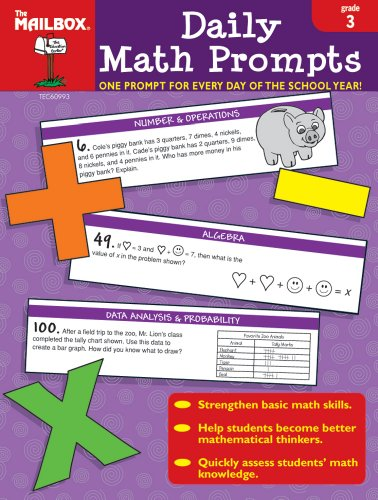 Daily Math Prompts (Gr. 3) - Mailbox Book Math