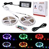 SPARKE LED Strip Light 10M 32.8 Ft 5050 RGB 600LEDs Flexible Color Changing LED Rope Lights with 28 Keys RF Remote Controller for Home Party and Festival Decoration(5M x Two Rolls)