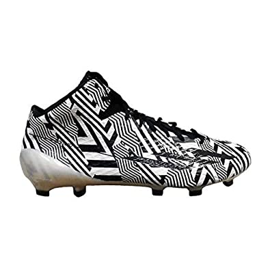 Image Unavailable. Image not available for. Color  adidas Men s Adizero 5-Star  3.0 Mid Football Cleats White Black-Black acb63089b