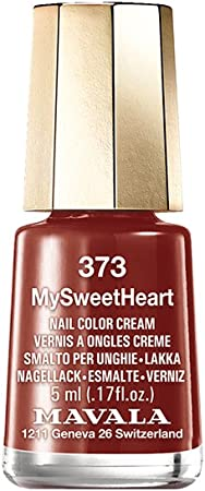 Mavala Mini Colors Pintauñas | Esmalte de Uñas | Laca de Uñas | 47 Colores Diferentes, Color My Sweet Heart 373 (Rojo Oscuro), 5 ml: Amazon.es