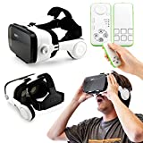 Oct17 3D Virtual Reality VR Z4 4th Generation Glasses Box Headset Headphones Earphones with Bluetooth control remote For IOS Android Iphone 6 plus Samsung Galaxy S6 Edge+