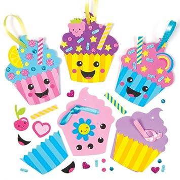 Cupcakes Bastelsets Lustige Gesichter Aus Moosgummi Fur Kinder Zum