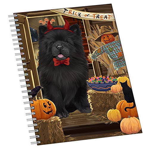 Enter at Own Risk Trick or Treat Halloween Chow Chow Dog Notebook NTB51925]()