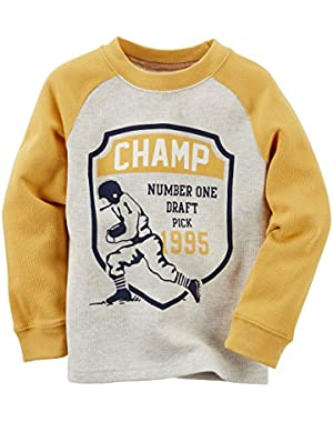 Carters Champ Thermal Tee, yellow/grey 3MOS