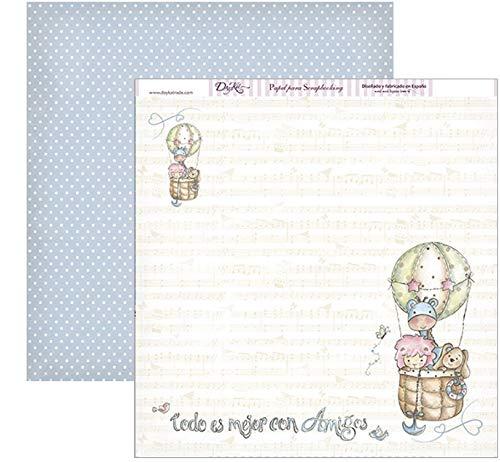 30 x 30 cm Multicolor Dayka Trade Papel estampado