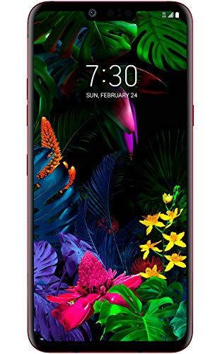 """LG G8 ThinQ LMG820TM (128GB, 6GB RAM) 6.1"""" 4G LTE AT&T, T-Mobile Unlocked - GSM ONLY (Carmine Red) from LG"""
