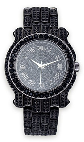 Mens Iced out Watch (Gun-Black)