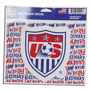 Soccer Us Soccer   National Team 04221115 Multi Use Colored Decal  5  X 6