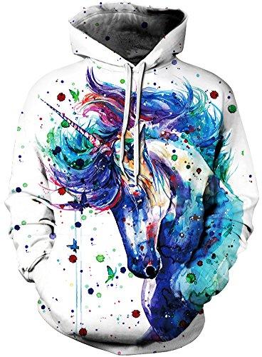 Pandolah Women's Hoodies Colorful Patterned Prints Sweaters Christmas Sweatshirts