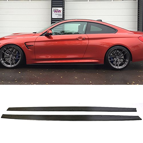 Side Skirt Fits 2015-2019 BMW F82 M4 Only | Performance Style Side Skirt Extensions Polyurethane PU by IKON MOTORSPORTS | ?2016 ()
