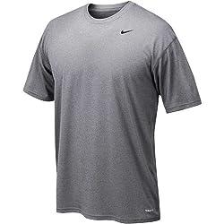 Nike 384407 Legend Dri-fit Short Sleeve Tee - Grey, Large