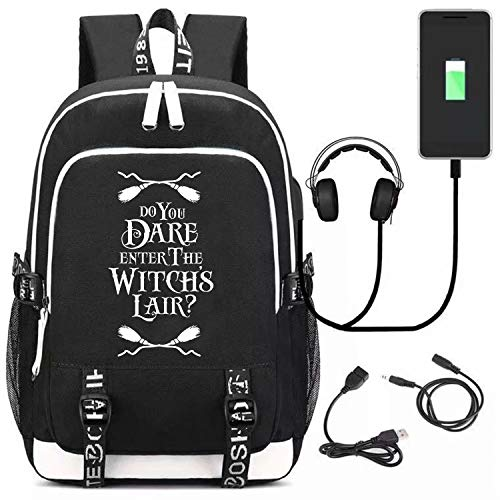 Dare Usb - Do You Dare Enter The Witchs Lair Backpack Travel Bag Bookbag Laptop Backpack with USB Charging Port