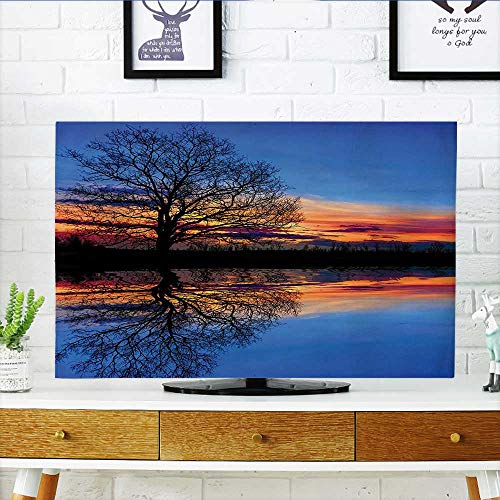 Auraisehome Dust Resistant Television Protector Majestic Full Branch Tree at Twilight with Water Reflection Out Magical Nature View tv dust Cover W20 x H40 INCH/TV ()