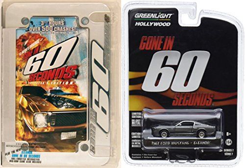 "Gone in 60 Seconds Cult Original Collector's Edition DVD with ""Eleanor"" 1967 Ford Mustang 1:64 Diecast Car Bundle"