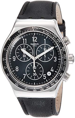 Pelle Uomo Quarzo Orologio Yvs448 Swatch Con In Analogico Cinturino q5AL4c3SRj