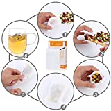 100Pcs Tea Filter Bags, Disposable Empty Tea Bag with Drawstring Safe & Natural Material, 1-Cup Capacity, Fill your own Tea Bags for Herb, Coffee & Loose Tea by Eranthe